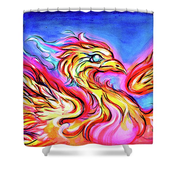 Lady Phoenix  Shower Curtain