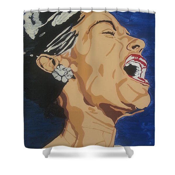 Lady Sings The Blues Shower Curtain