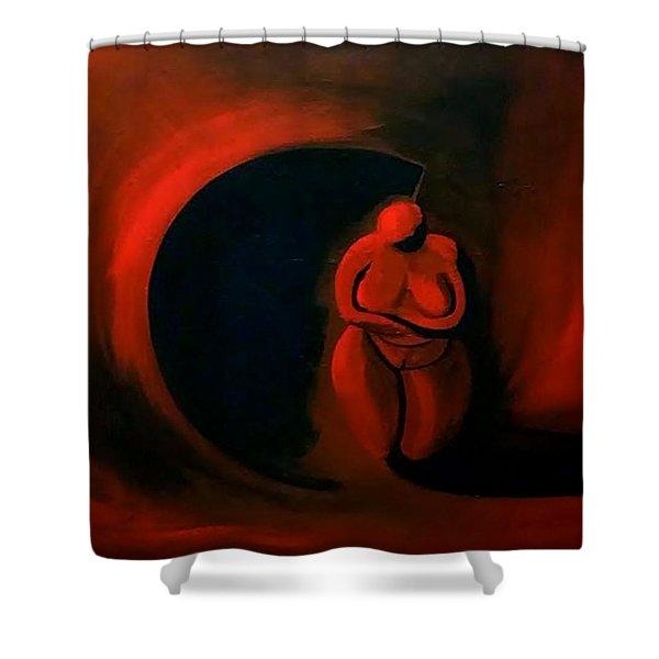 Lady Willendorf Shower Curtain