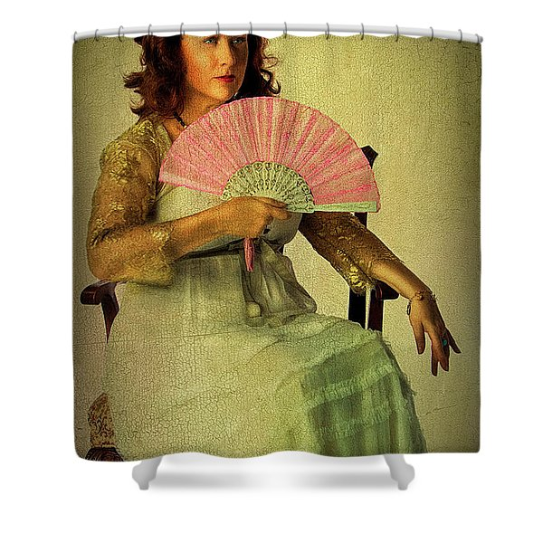 Lady With A Fan Shower Curtain