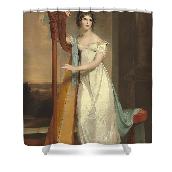 Lady With A Harp Shower Curtain