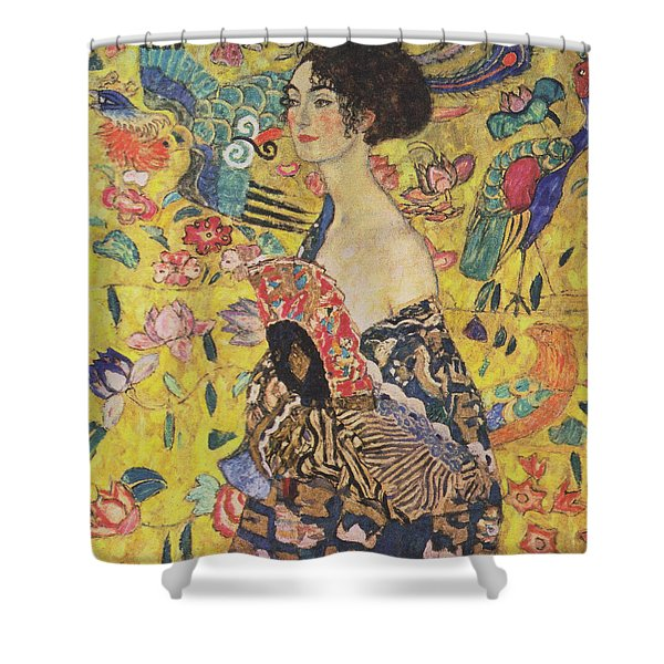 Lady With Fan Shower Curtain