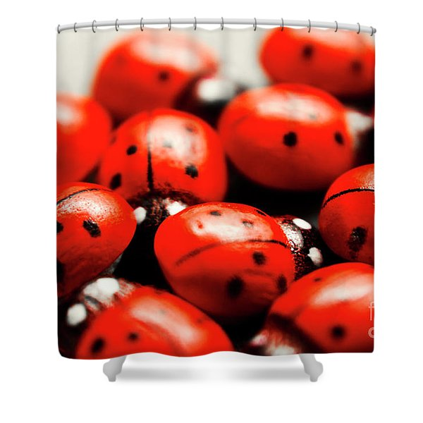 Ladybug Luck Shower Curtain