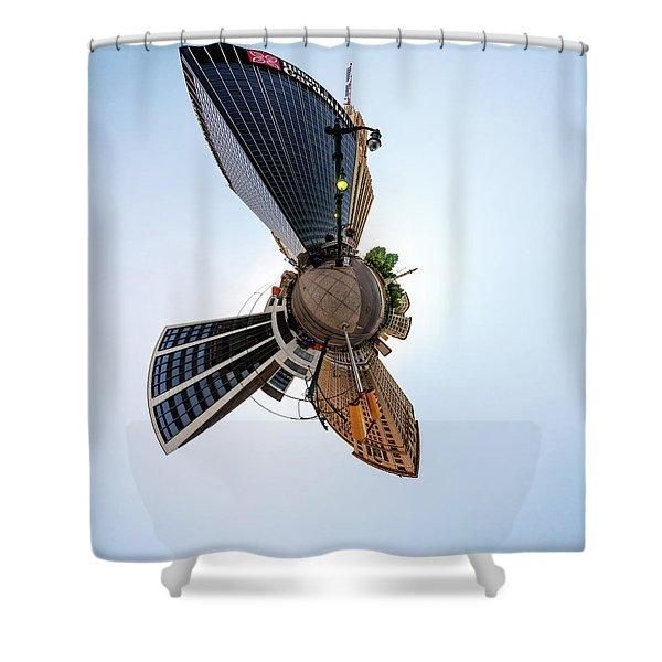 Lafayette Square Buffalo - Tiny Planet Shower Curtain