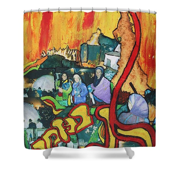 Lag B'omer Shower Curtain