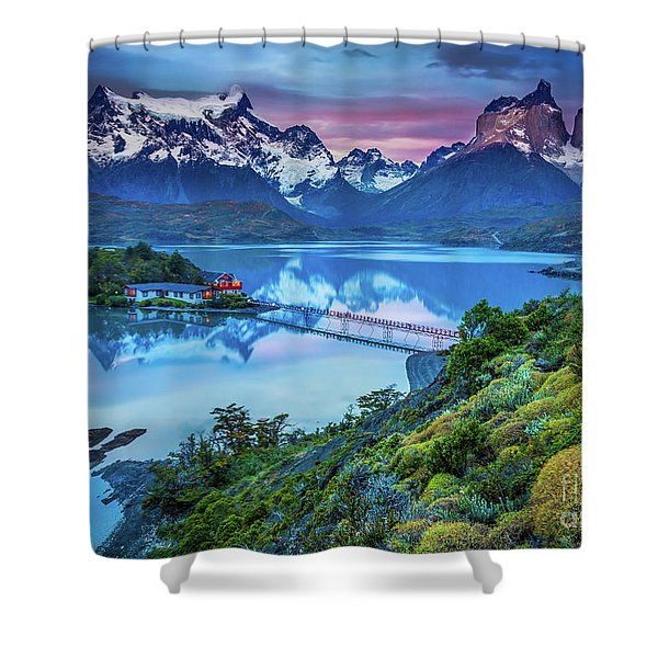 Lago Pehoe - March Shower Curtain