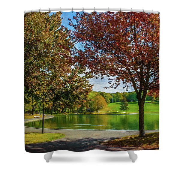 Lagoon Park In Montreal Shower Curtain