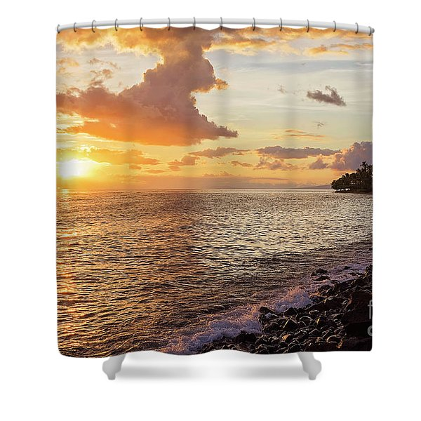 Lahaina Sunset Shower Curtain