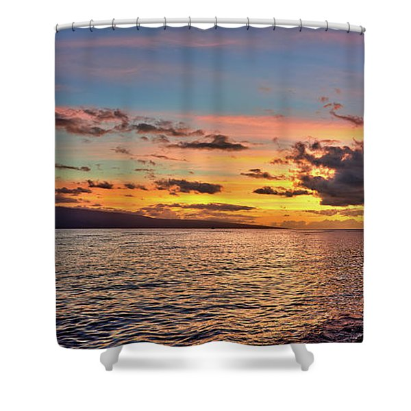 Lahaina Sunset Panorama Shower Curtain