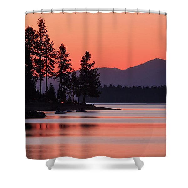 Lake Almanor Twilight Shower Curtain