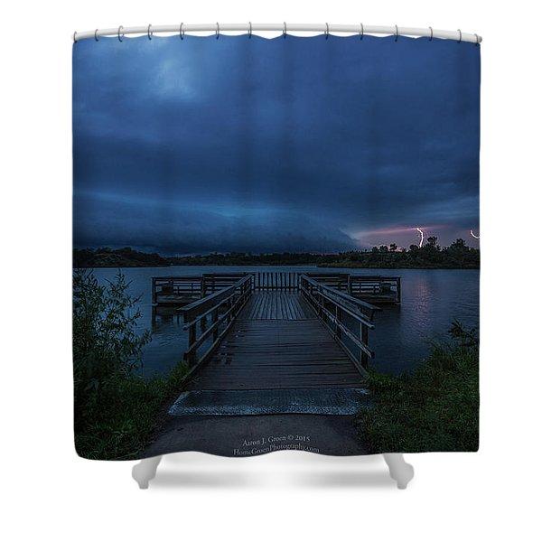 Lake Alvin Shelf  Shower Curtain