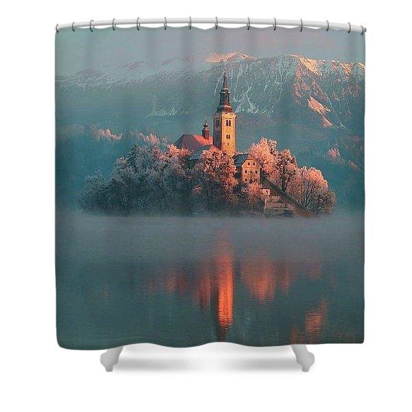 Lake Bled  Shower Curtain