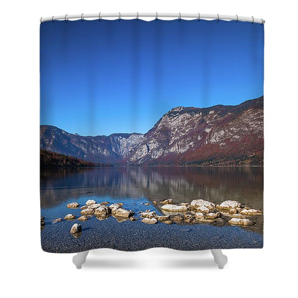 Lake Bohinj Shower Curtain