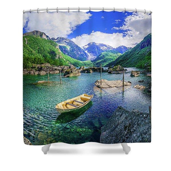 Lake Bondhusvatnet Shower Curtain