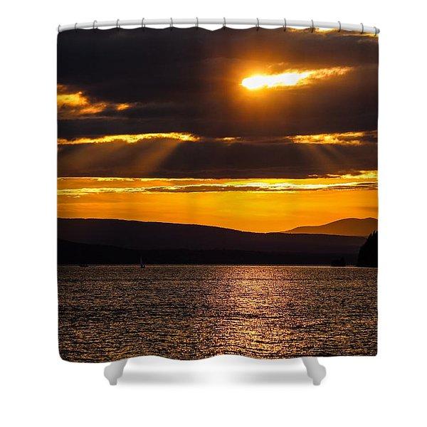 Lake Champlain Sunset Shower Curtain