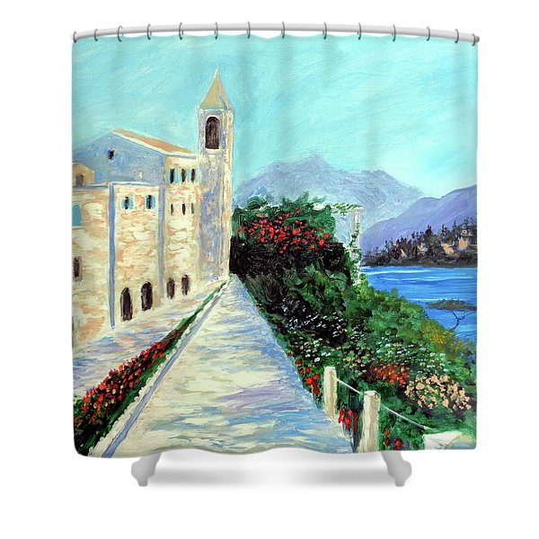 Lake Como Colors  Shower Curtain