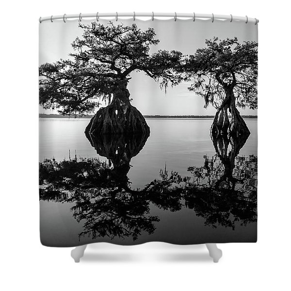 Lake Disston Old Couple Shower Curtain