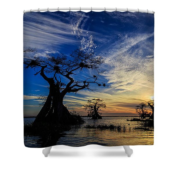 Lake Disston Sunset Shower Curtain