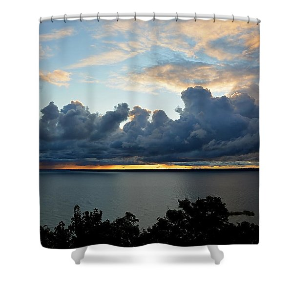 Lake Effect Sky Shower Curtain