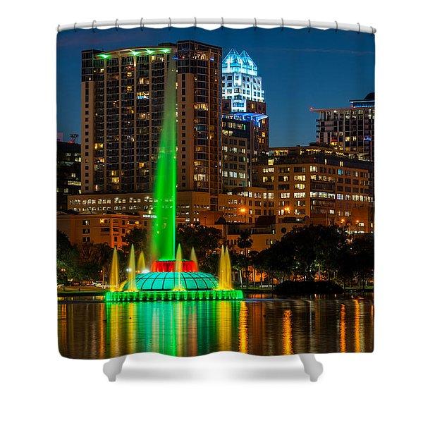 Lake Eola Fountain Shower Curtain