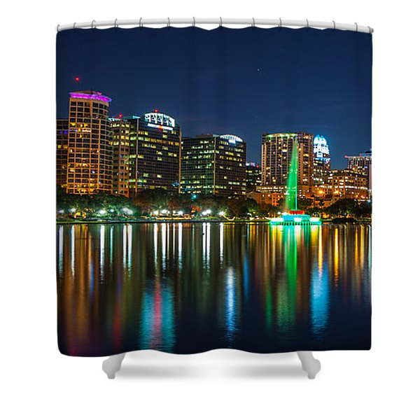 Lake Eola Orlando Shower Curtain
