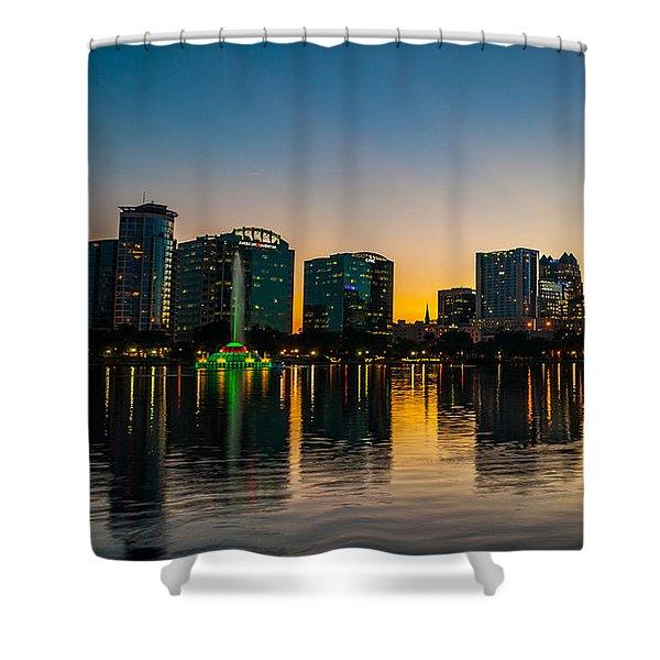 Lake Eola Sunset Shower Curtain