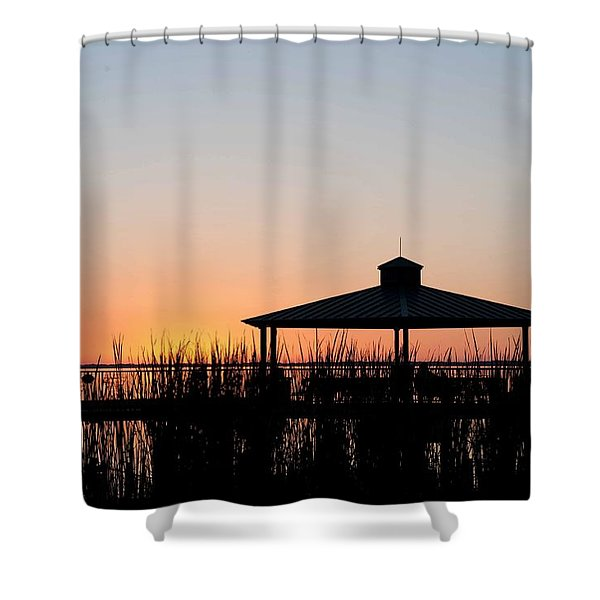 Lake Eustis Sunset Shower Curtain