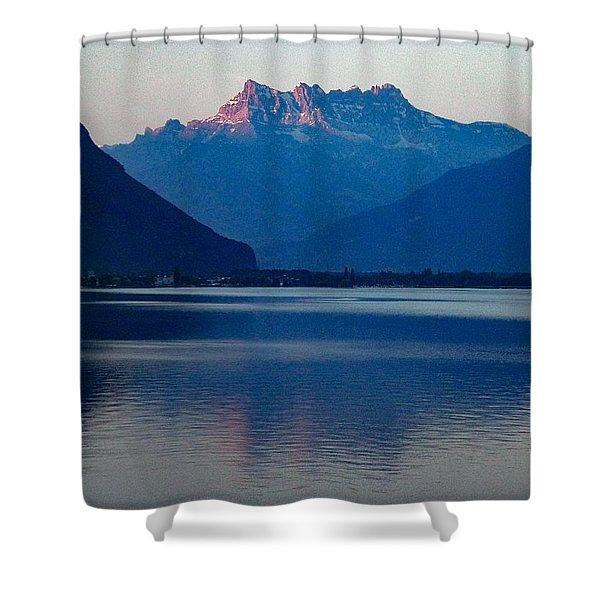 Lake Geneva, Switzerland Shower Curtain