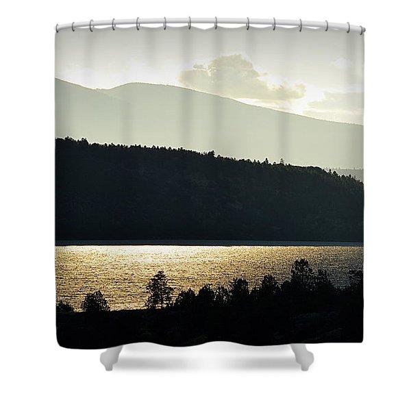 Lake Glimmer Shower Curtain
