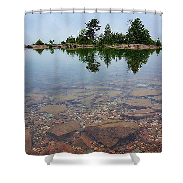 Lake Huron Island Shower Curtain