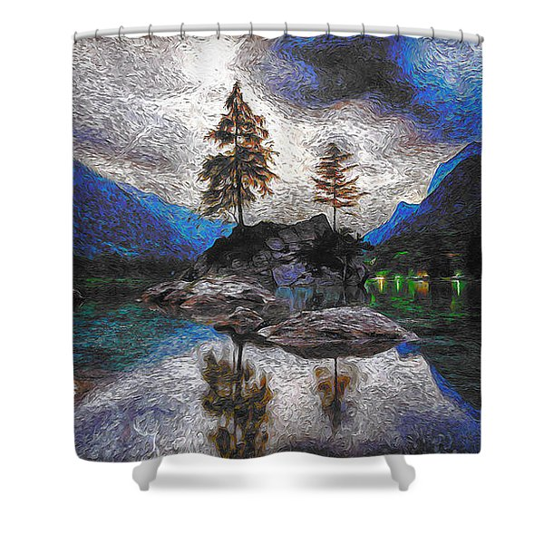 Lake In Nature Shower Curtain
