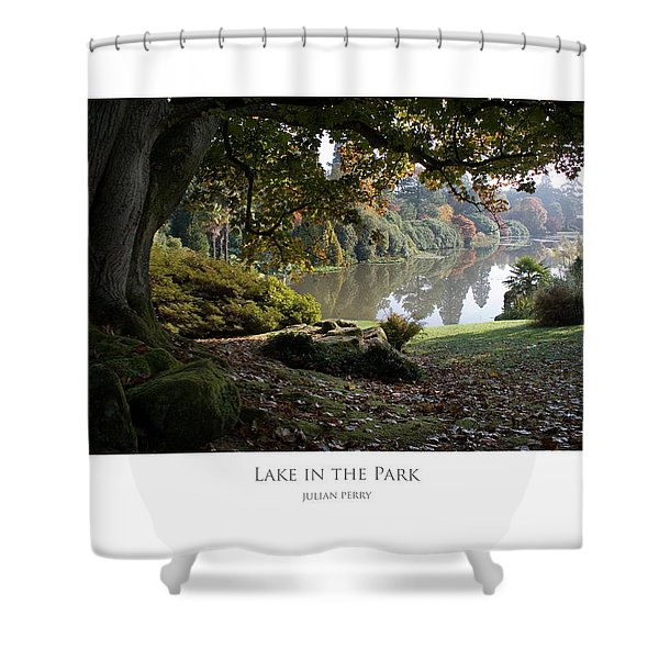 Lake In The Park Shower Curtain
