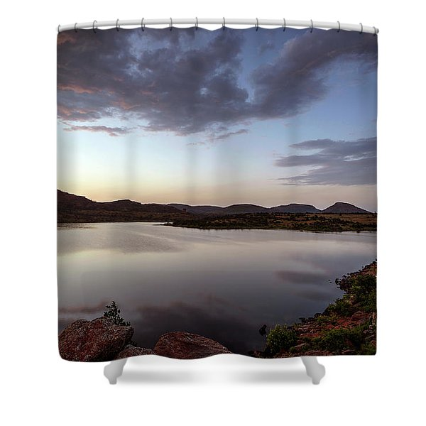 Lake In The Wichita Mountains  Shower Curtain