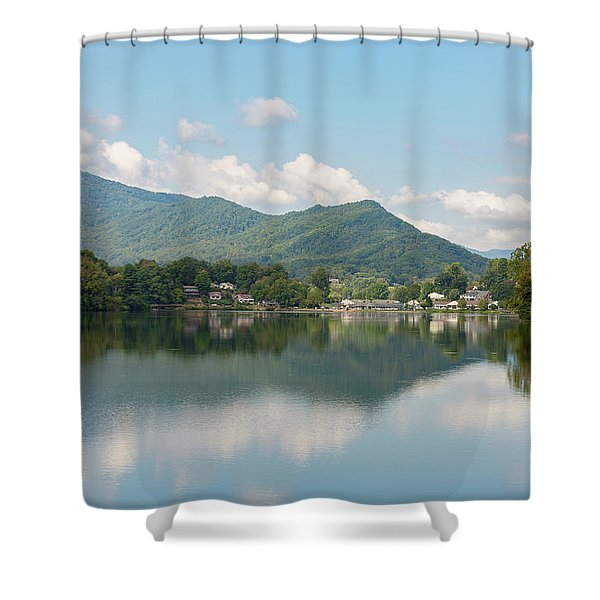 Shower Curtain featuring the photograph Lake Junaluska #1 - September 9 2016 by D K Wall