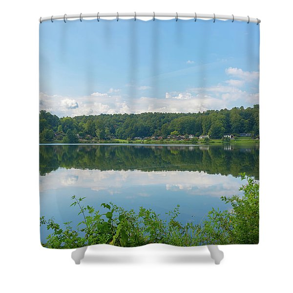 Shower Curtain featuring the photograph Lake Junaluska #3 September 9 2016 by D K Wall