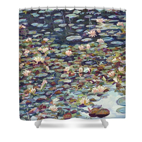 Lake Lenape Lilies Shower Curtain