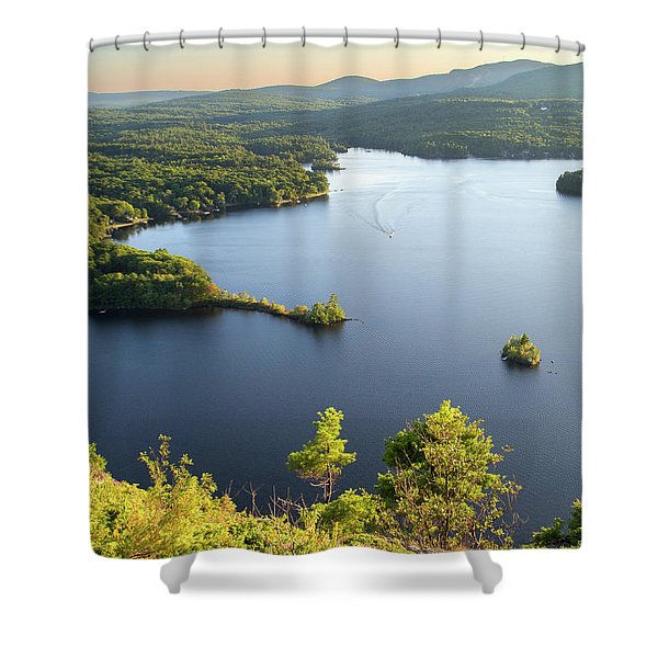 Lake Megunticook, Camden, Maine  -43960-43962 Shower Curtain
