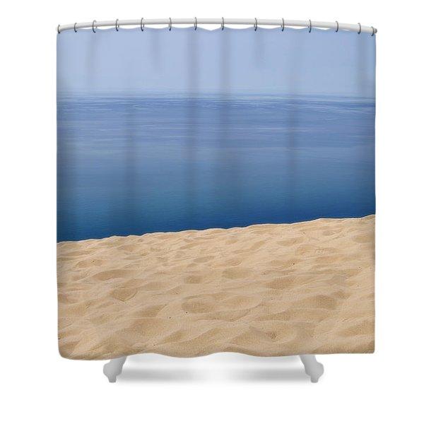 Lake Michigan Sand Dune Shower Curtain