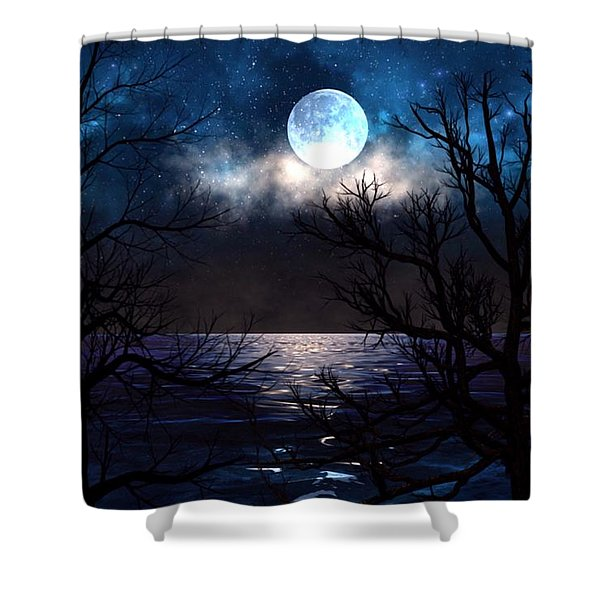 Lake Midnight Shower Curtain