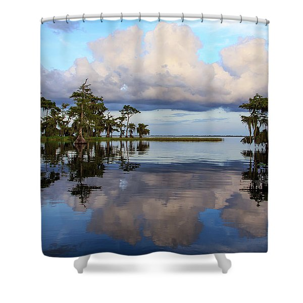 Lake Mirror Shower Curtain
