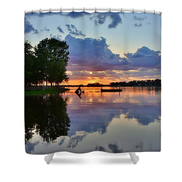 Lake Murray Sc Reflections Shower Curtain