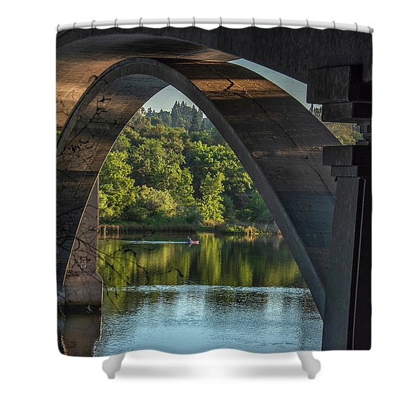 Lake Natoma Arch Shower Curtain