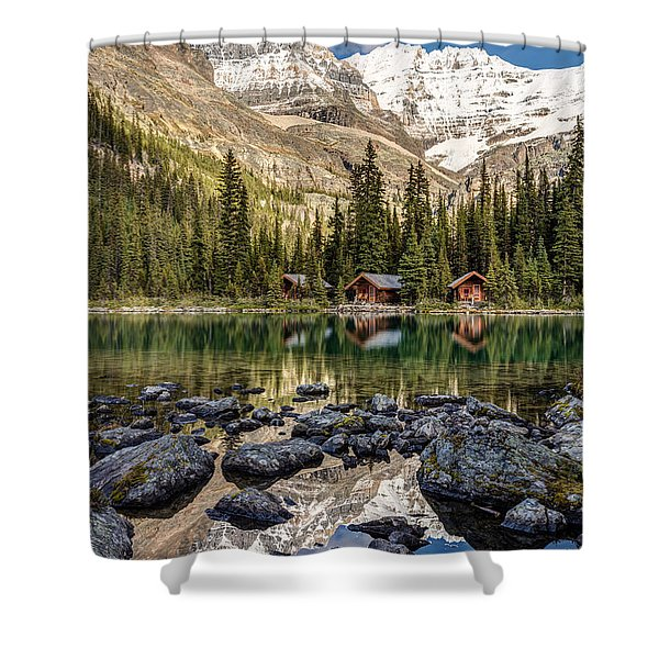 Lake O'hara Lodge Shower Curtain