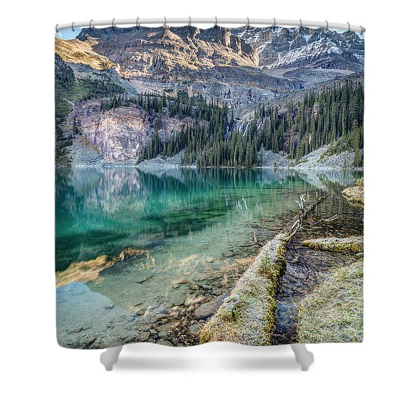 Lake O'hara Scenic Shoreline Shower Curtain