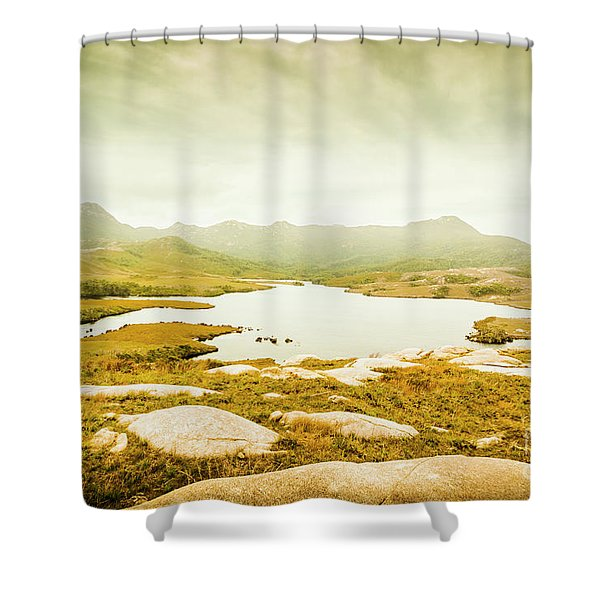 Lake On A Mountain Shower Curtain
