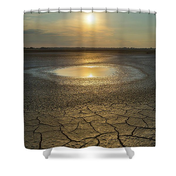 Lake On Fire Shower Curtain