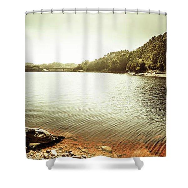 Lake Pieman, West Tasmania Shower Curtain