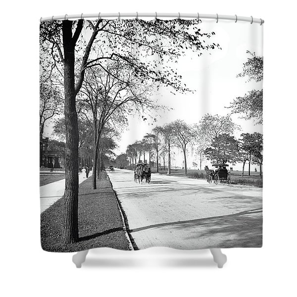 Lake Shore Drive - Chicago 1905 Shower Curtain