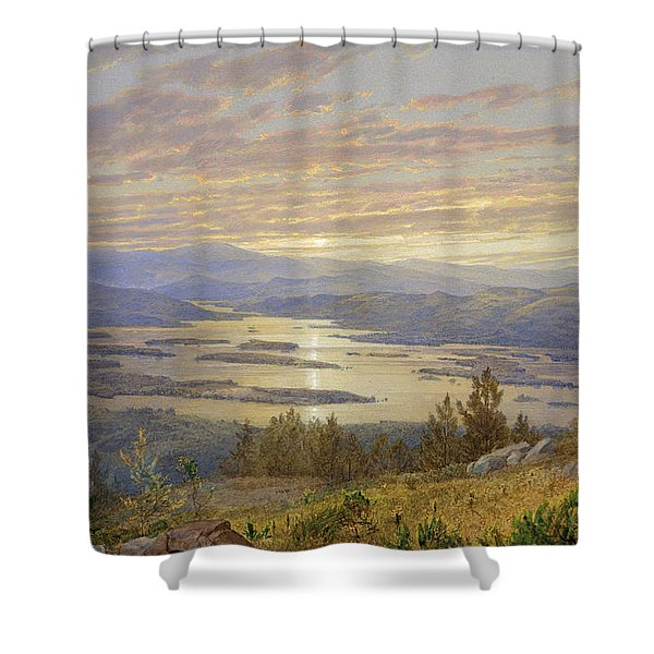Lake Squam From Red Hill, 1874 Shower Curtain