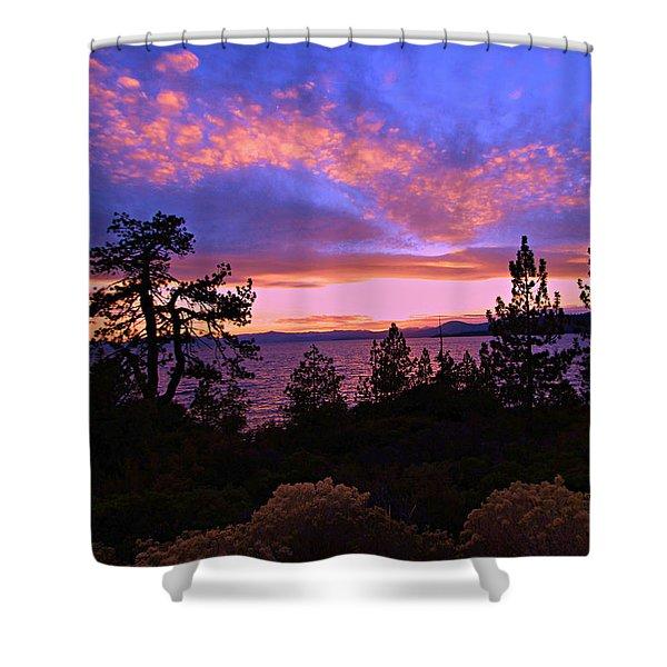 Lake Tahoe Crescendo Shower Curtain